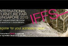 International Furniture Fair Singapore(IFFS)に出展します